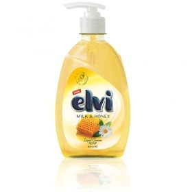 Течен сапун  Elvi Honey and Milk 400 ml